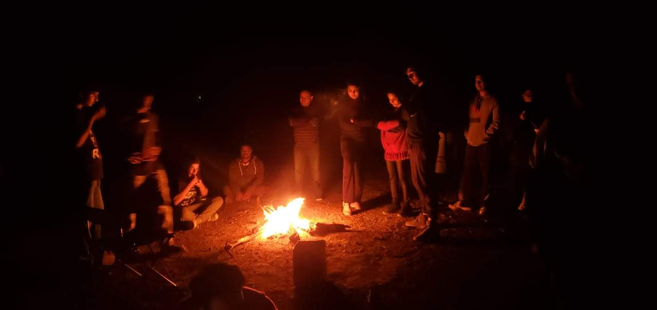 Bonfire at Naneghat.